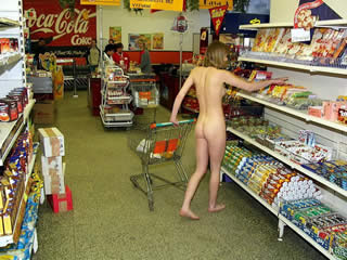 Trekking to the supermarket naked